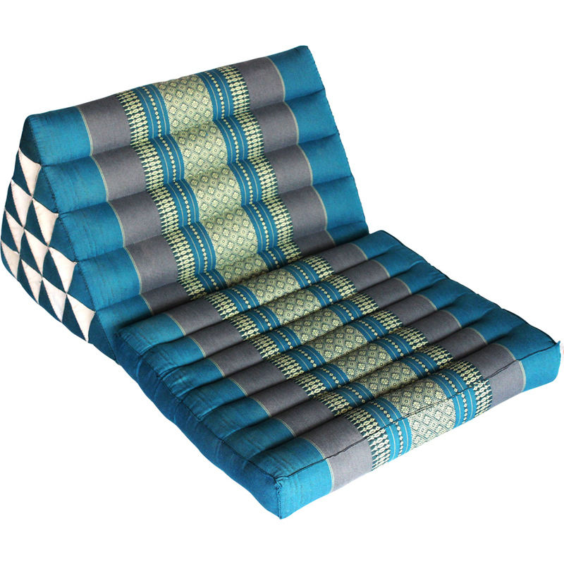 Jumbo Fold Out Day Bed Triangle Thai Pillow In Blue Buy