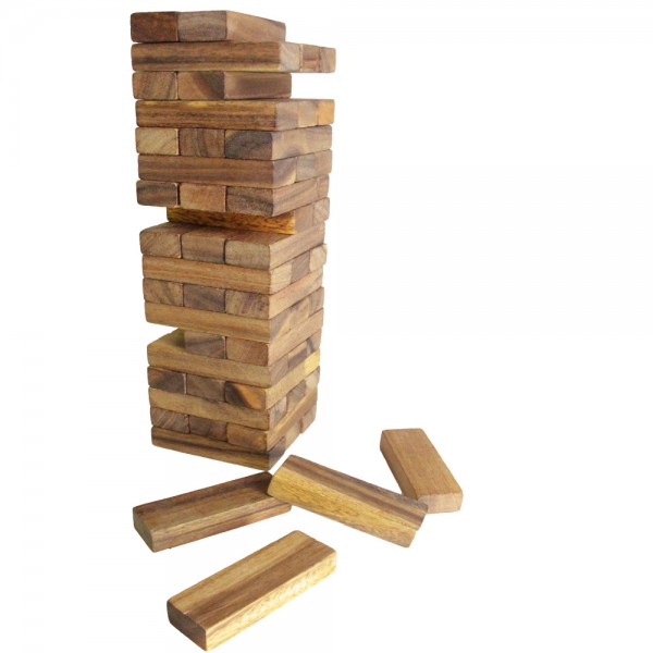 Deluxe Giant Jenga Tower Of Wooden Puzzle Blocks Buy
