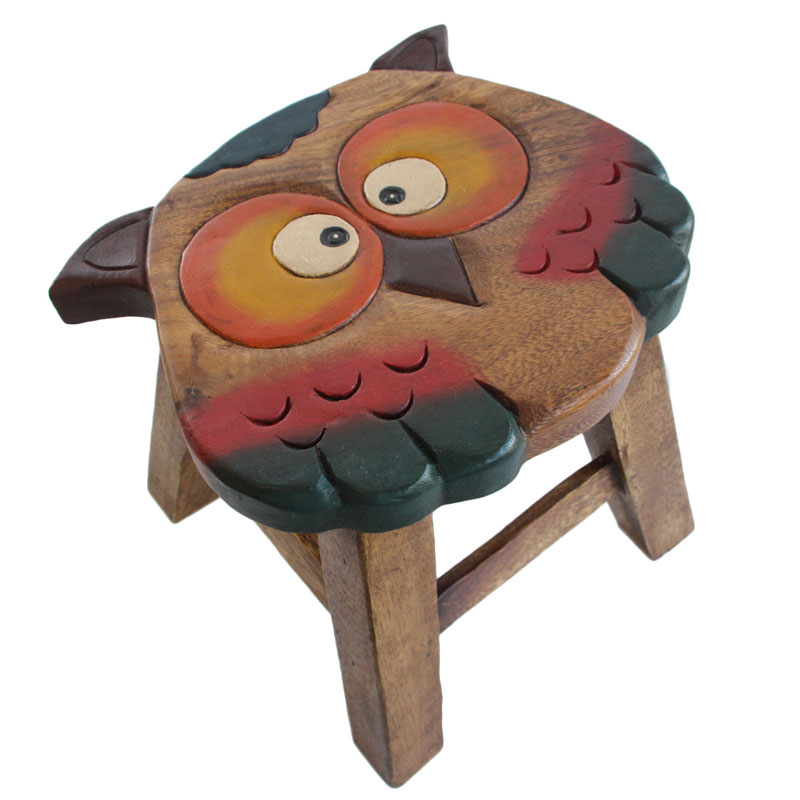 Kids Wooden Designer Stool Owl Buy Kid S Tables Amp Chairs