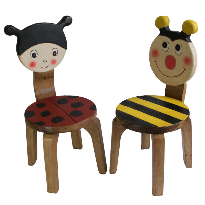 Kids Wooden Chair Set Lady Bug Amp Bee Buy Kid S Tables