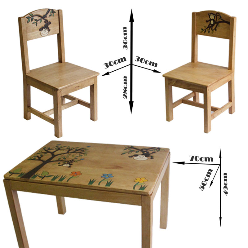 Kids Playroom Monkey Wooden Table And Chairs Set Buy Kid