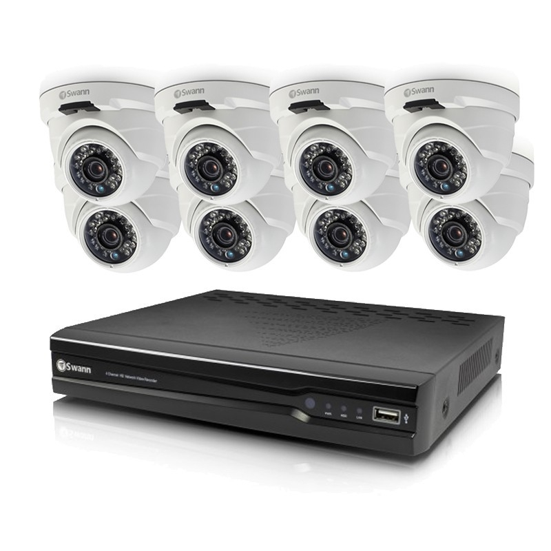 Swann Cctv 16 Channel Nvr With 8 Dome Cameras 4mp Buy