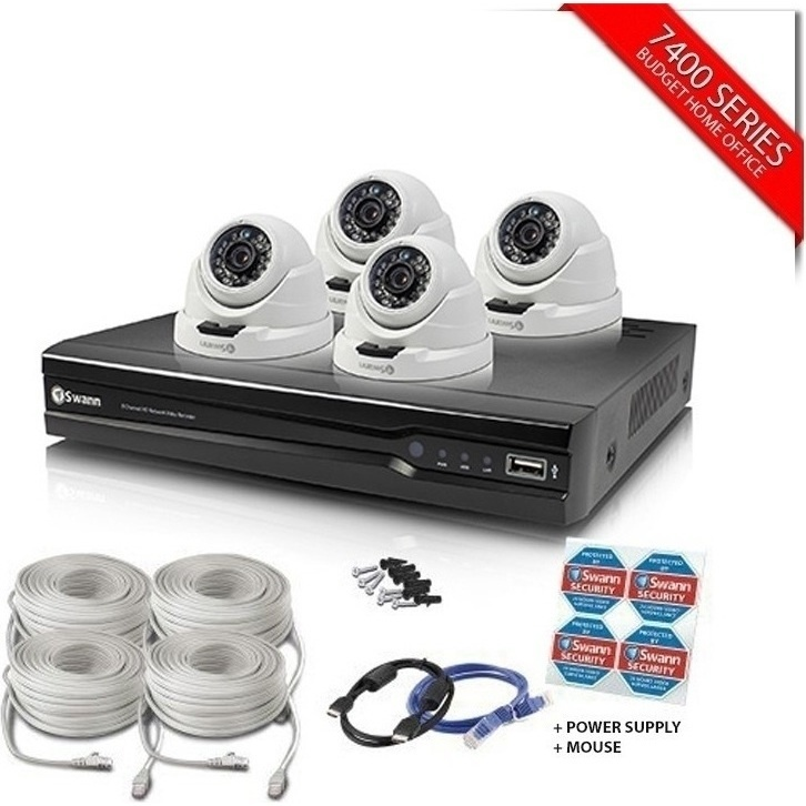 Swann 4 Channel Recorder With 4 Dome Cameras 4mp Buy
