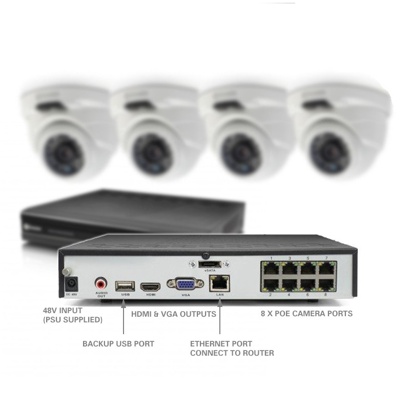Swann 8 Channel Nvr Dome Security Camera System 4mp Buy