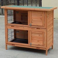 Large Seperate Level Wooden Rabbit Hutch Pet House