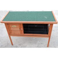 Rabbit Hutch Guinea Pig Cage on Legs w Asphalt Roof