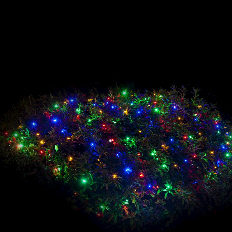 newest collection b6641 68c63 Christmas Lights 300 LED Solar Net Lights Multi Colour Flashing Outdoor  Decor