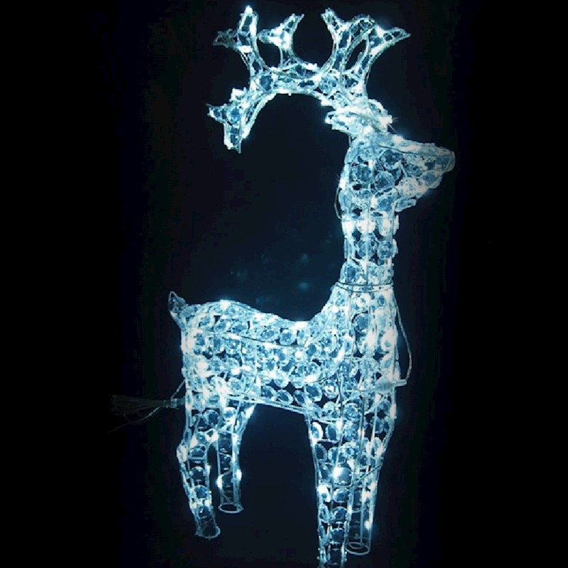 led christmas lights standing reindeer cool white acrylic indoor outdoor decor