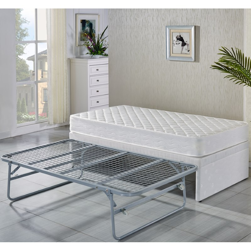 Classic Single Bed With Trundle Bed By Stompa: Single Fabric Bed Base W/ Trundle & 2 Mattresses