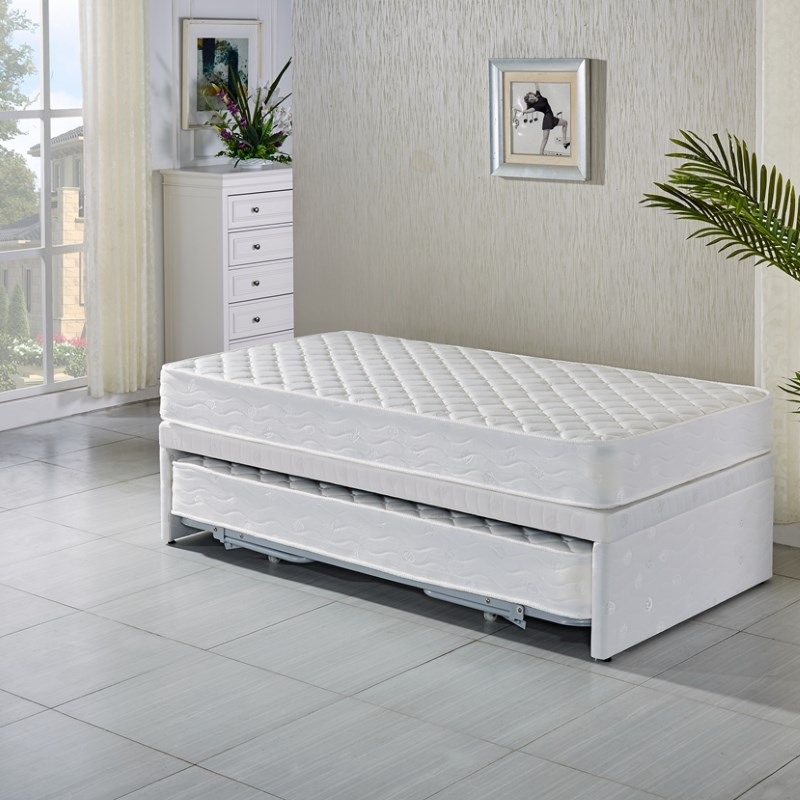 single bed with trundle king single white bed frame w trundle 2 mattresses buy 17073