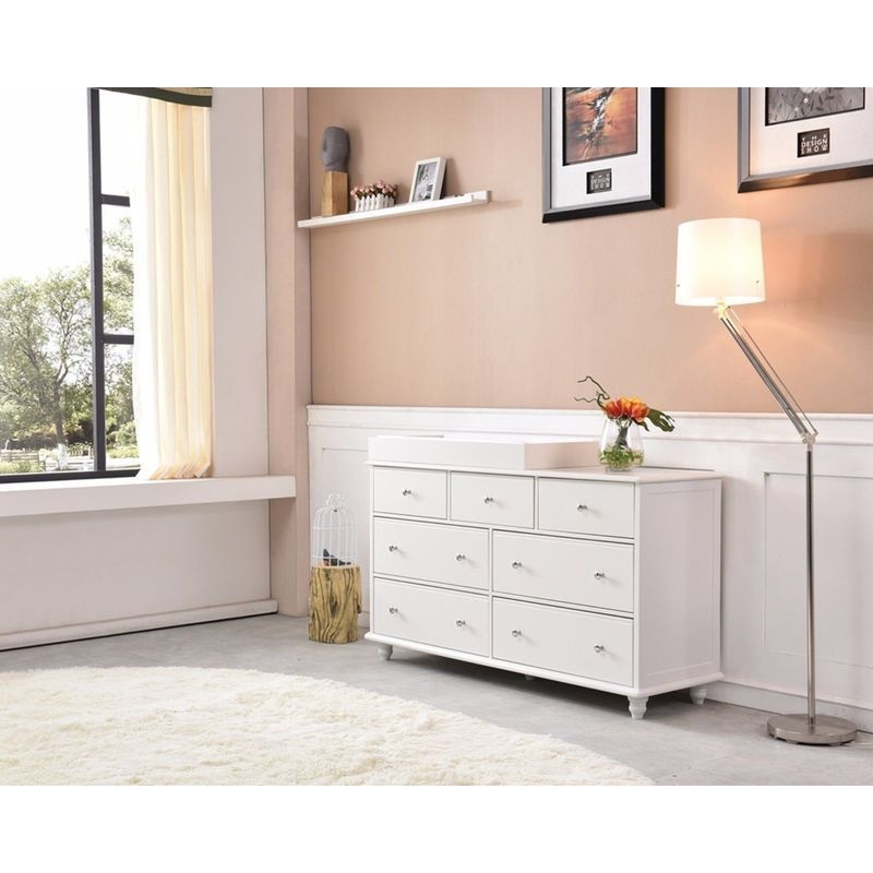 cardinia 7 drawer baby change table dresser white buy changing tables 199764. Black Bedroom Furniture Sets. Home Design Ideas