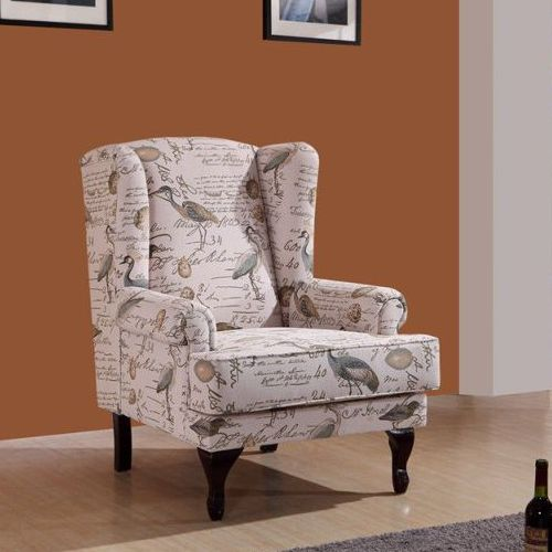 Printed Occasional Wingback Armchair Lounge Chair Buy