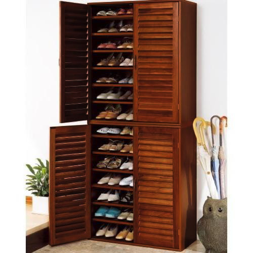 21 Pair Wooden Shoe Cabinet With Adjustable Shelves Buy