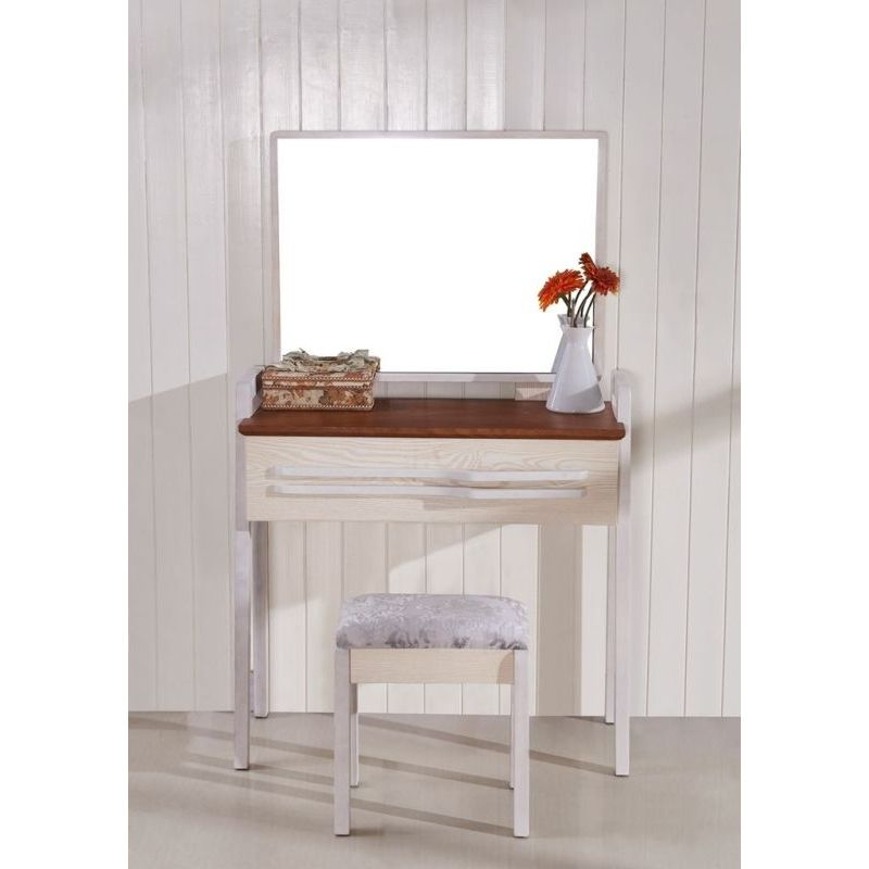Minimal European Ash Wood Dressing Table W Mirror Buy
