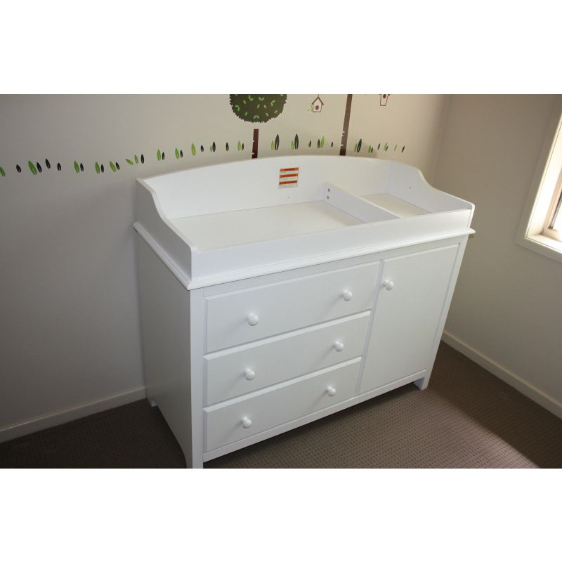 Attractive Baby Change Table U0026 Storage Chest Cabinet In White
