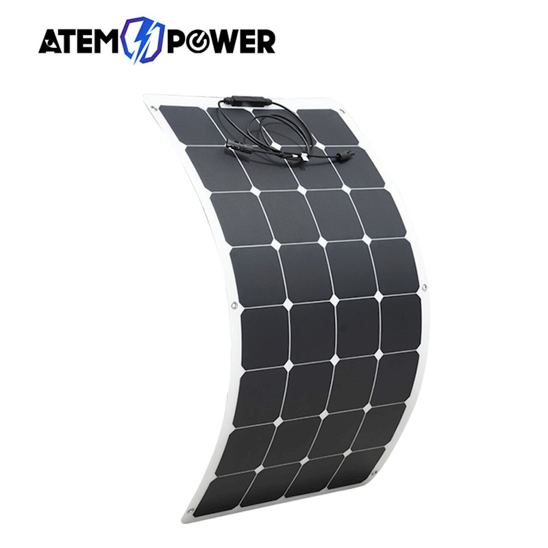 Solar Panels Cheap Sale 100w 12v Flexible Solar Panel Kit Caravan Boat Mono Battery Charging Camping Alternative & Solar Energy