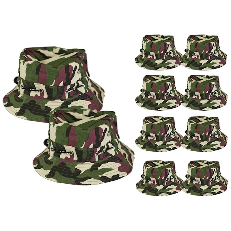 h m s Remaining. 10X Military Bucket Hats Military Men Boonie Hunting Caps  Wide Brim Unisex Outdoor Fishing 98eeebc2d03f