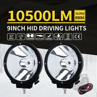 2x Xenon HID Spotlight Driving Lights 100w 9in