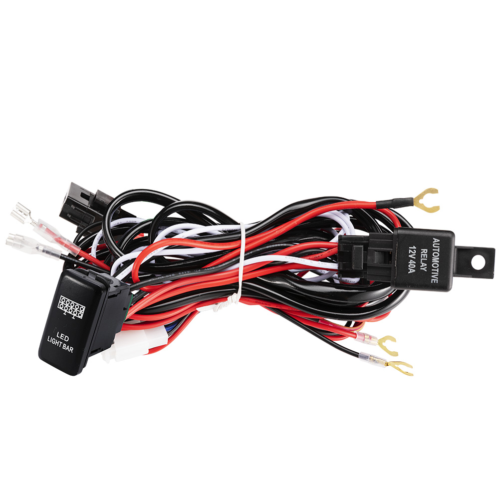 Admirable Heavy Duty Led Light Bar Wiring Loom Harness 40A Switch Relay Kit Wiring Cloud Hisonuggs Outletorg