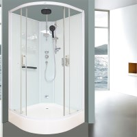 Aeros 12000 Shower Enclosure Unit in Aqua 3 Sizes