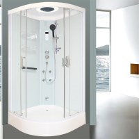 Aeros 15000 Corner Luxury Shower Enclosure in Aqua