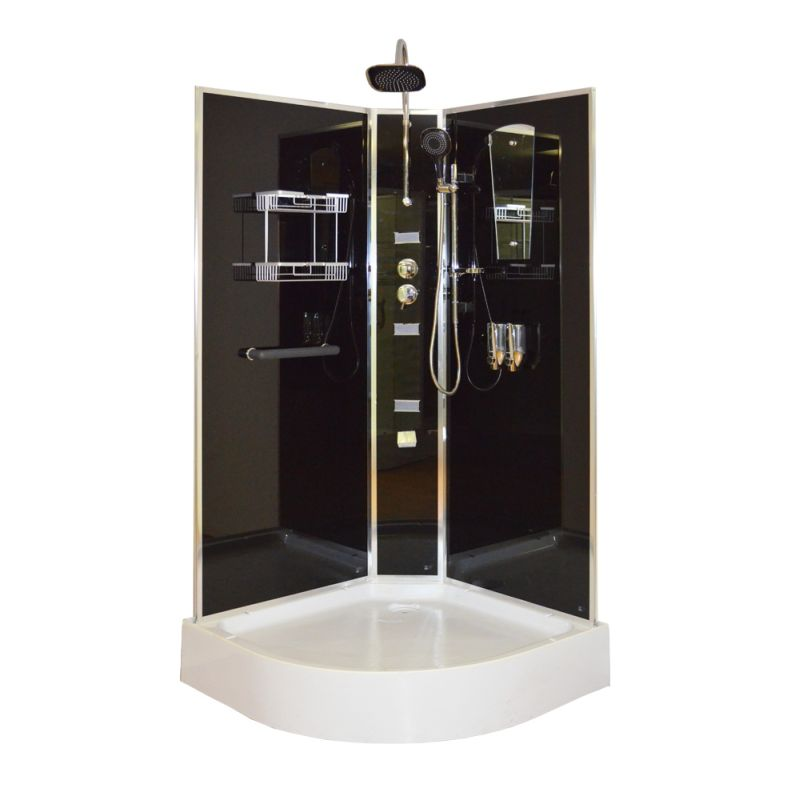 Aeros Shower Cubicle Set w/ 2 Heads & 3 Water Jets | Buy Shower Cubicles