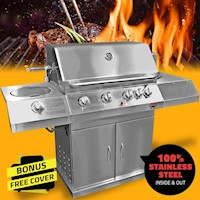 Deluxe 6 Burner Bull Compact Built In BBQ and Grill