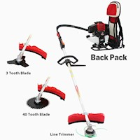 BBT Back Pack 3-in1 Multi Tool Garden Trimmer 43CC