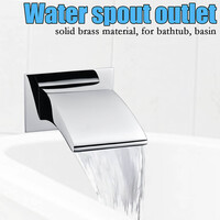 Square Waterfall Bath Spout in Chrome 180mm