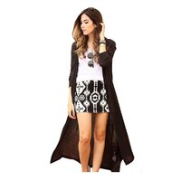 Long Waterfall Open Front Drape Cardigan