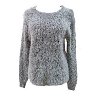 Fuzzy Mohair Knitted Grey Jumper
