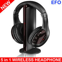 6-in-1 Wireless Headphones with FM Radio