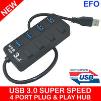 USB 3.0 Super Speed 4 Port Hub with LED Indicator