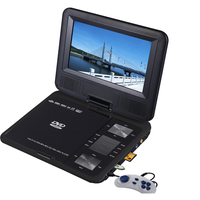 """Portable Multi-Format LED DVD Player w/ 9"""" Monitor"""