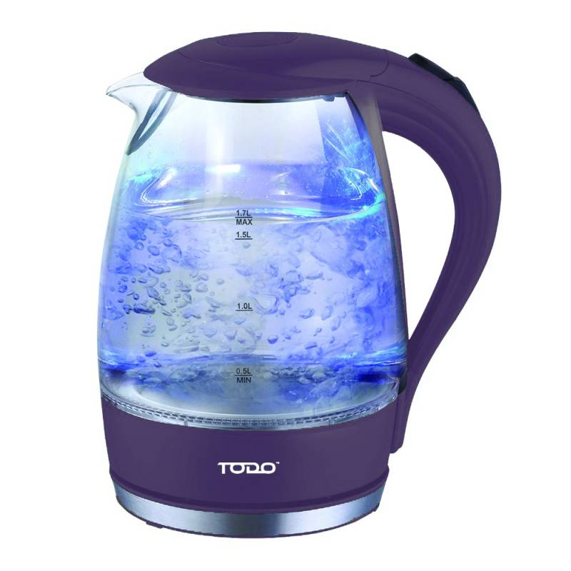 Cordless 1 7l Led Glass Kettle 4 Colours Buy Electric