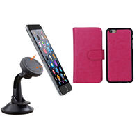 iPhone 6+ Pink Magnetic Case w/ Suction Car Holder