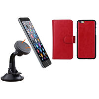 iPhone 6+ Red Magnetic Case w/ Suction Car Holder