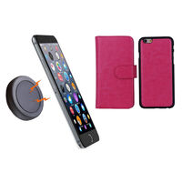 iPhone 6 Pink Magnetic Wallet Case w/ Phone Holder