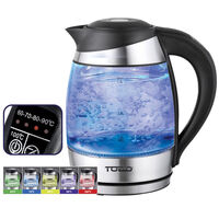 5 Setting Cordless LED Glass Kettle in Black 1.8L