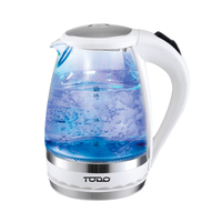 Cordless LED Filter Glass Kettle White 1.5L 2200W