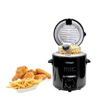Todo Stainless Steel Mini Deep Fryer in Black 840W