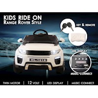 Range Rover Style Kids Ride On Car w/ Remote White