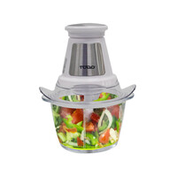 Glass Dual Blade Food Processor in White 1.2L 250W