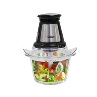 Glass Dual Blade Food Processor in Black 1.2L 250W