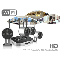 4 Channel NVR Security Camera System w 4 IP Cameras
