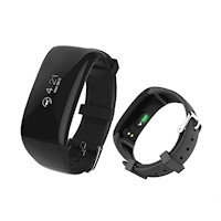 Fitness Band Heart Rate Monitor Smart Watch Black