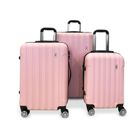 3pc Todo Hard Shell Travel Luggage Sets in Pink