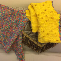 Adults Knitted Mermaid Tail Blanket Sunshine Yellow
