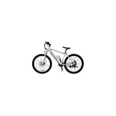 Pedal Assist Electric Mountain Bike in White 250W