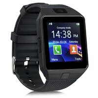 Smart Watch with GSM Network and Camera in Black